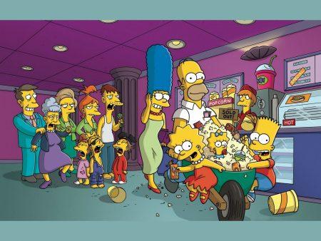 Papel de parede Os Simpsons – Confusão No Cinema para download gratuito. Use no computador pc, mac, macbook, celular, smartphone, iPhone, onde quiser!