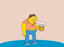 Papel de parede Os Simpsons – Barney