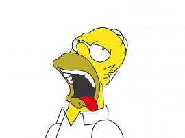 Papel de parede Os Simpsons – Homer Babando