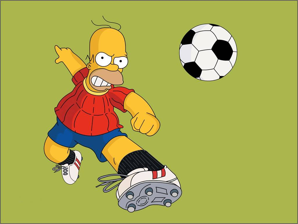 Papel de parede Os Simpsons – Homer e Futebol para download gratuito. Use no computador pc, mac, macbook, celular, smartphone, iPhone, onde quiser!