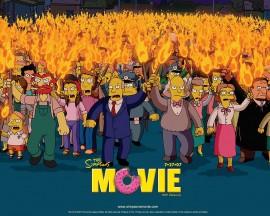 Papel de parede Os Simpsons – Multidão
