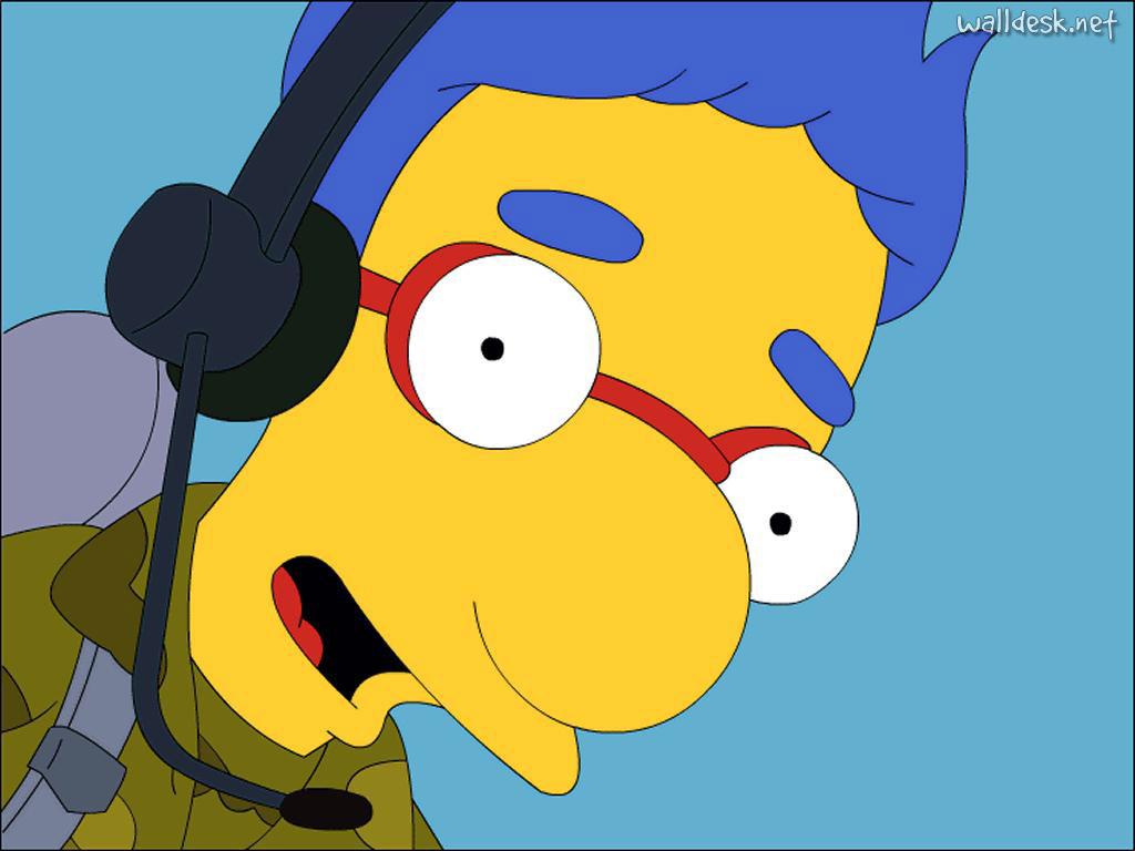 Papel de parede Os Simpsons – Milhouse para download gratuito. Use no computador pc, mac, macbook, celular, smartphone, iPhone, onde quiser!