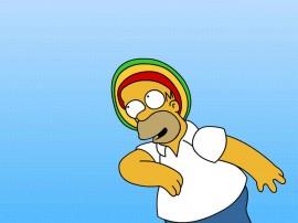 Papel de parede Os Simpsons – Reggae