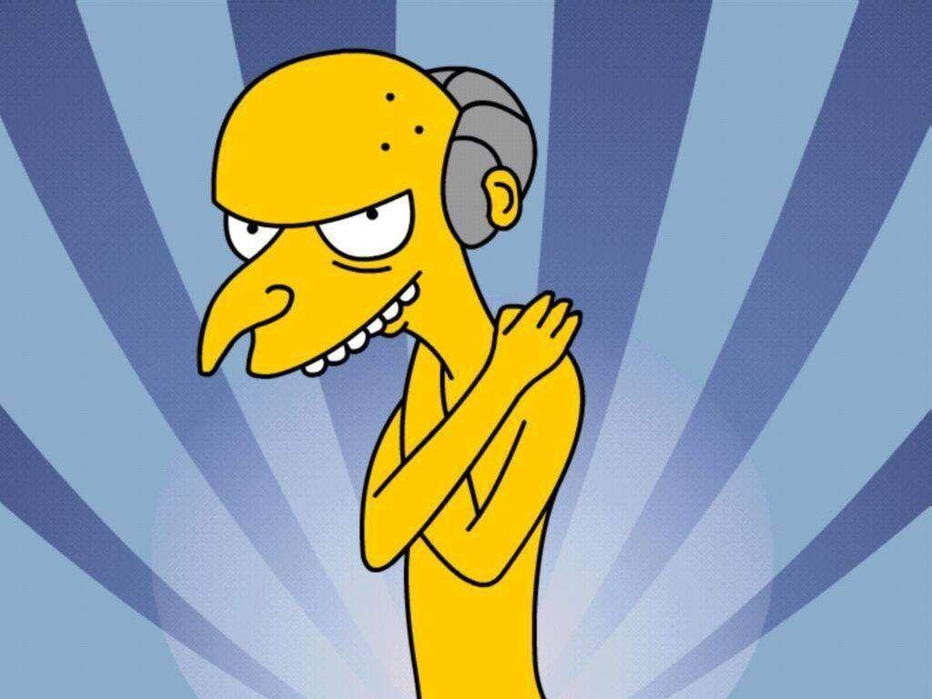 Papel de parede Os Simpsons – Burns para download gratuito. Use no computador pc, mac, macbook, celular, smartphone, iPhone, onde quiser!