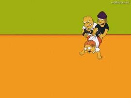 Papel de parede Os Simpsons – Valentões