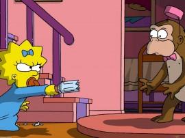 Papel de parede Os Simpsons – Sai pra lá!