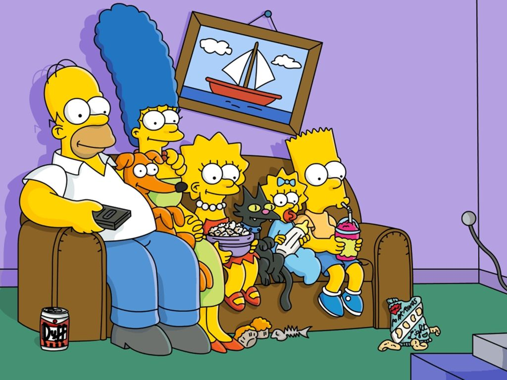 Papel de parede Família Simpsons para download gratuito. Use no computador pc, mac, macbook, celular, smartphone, iPhone, onde quiser!