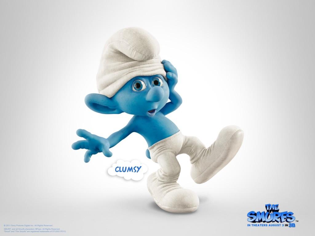 Papel de parede Smurfs – Clumsy para download gratuito. Use no computador pc, mac, macbook, celular, smartphone, iPhone, onde quiser!