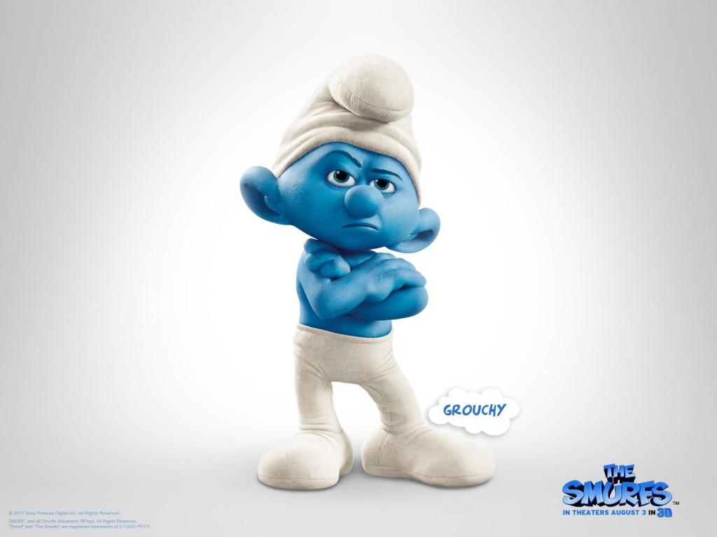 Papel de parede Smurfs – Grouchy para download gratuito. Use no computador pc, mac, macbook, celular, smartphone, iPhone, onde quiser!