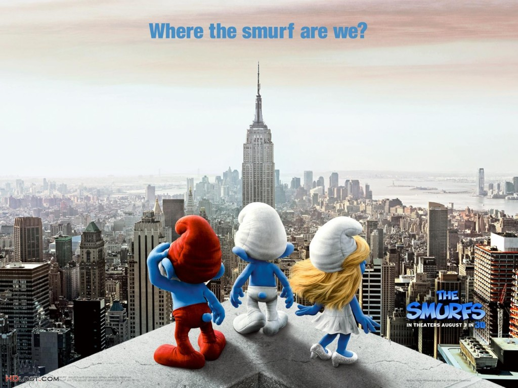 Papel de parede Smurfs – Nova York para download gratuito. Use no computador pc, mac, macbook, celular, smartphone, iPhone, onde quiser!