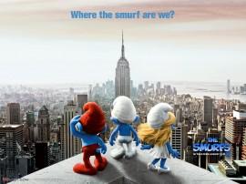 Papel de parede Smurfs – Nova York
