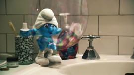 Papel de parede Smurfs – Bolha