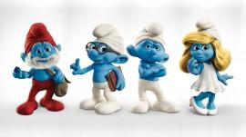 Papel de parede Smurfs – Azuis