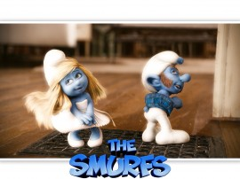 Papel de parede Smurfs – Marilyn Smurfette