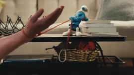 Papel de parede Smurfs – Puxando