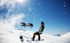 Papel de parede Snowboard – Manobras