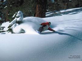 Papel de parede Snowboard – Muita Neve