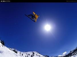 Papel de parede Snowboard – Alcançando o Sol