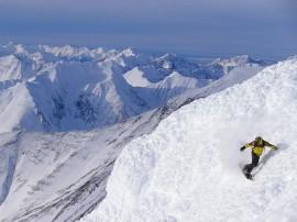 Papel de parede Snowboard – Descida