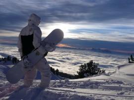 Papel de parede Snowboard – Vista Incrível