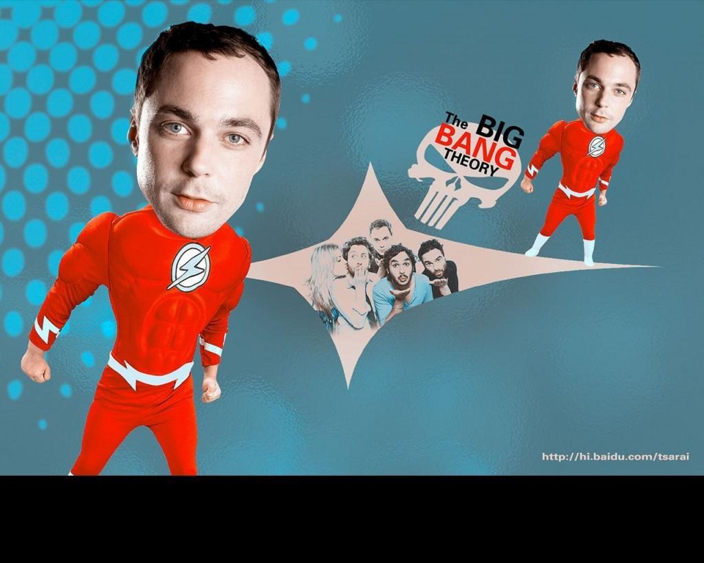 Papel de parede The Big Bang Theory – Super Sheldon para download gratuito. Use no computador pc, mac, macbook, celular, smartphone, iPhone, onde quiser!