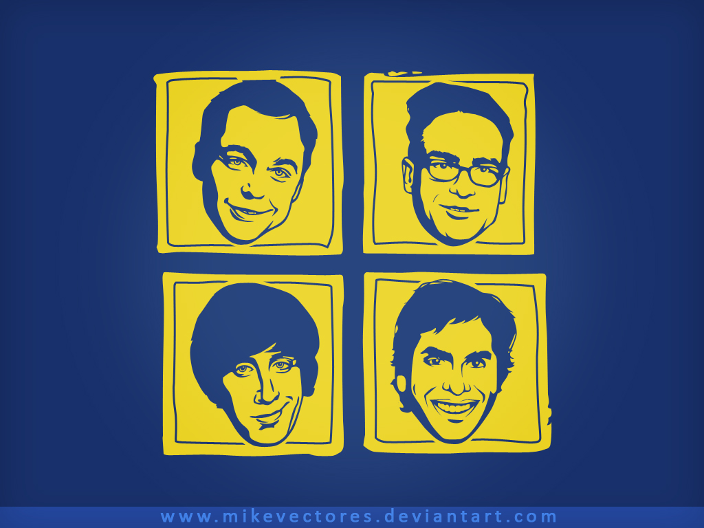 Papel de parede Geeks – The Big Bang Theory para download gratuito. Use no computador pc, mac, macbook, celular, smartphone, iPhone, onde quiser!