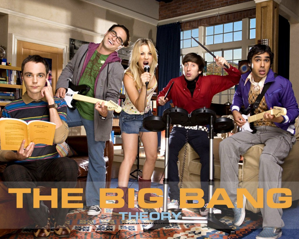 Papel de parede Rock Band – The Big Bang Theory para download gratuito. Use no computador pc, mac, macbook, celular, smartphone, iPhone, onde quiser!