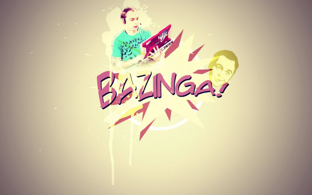 Papel de parede Bazinga – The Big Bang Theory para download gratuito. Use no computador pc, mac, macbook, celular, smartphone, iPhone, onde quiser!