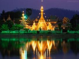 Papel de parede Tailândia: Iluminado