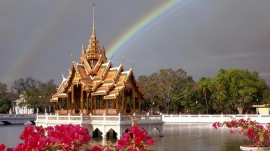 Papel de parede Tailândia: Tempo e Arco-Íris