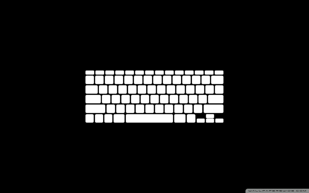 Papel de parede Teclado – Branco no Preto para download gratuito. Use no computador pc, mac, macbook, celular, smartphone, iPhone, onde quiser!