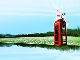 Papel de parede Ilustração de Cabine deTelefone