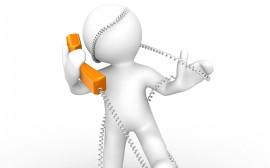 Papel de parede Enrolado no Fio do Telefone