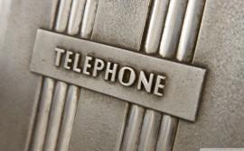Papel de parede Plaquinha de Telefone