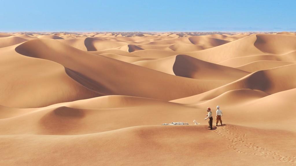 Papel de parede Tintin: No Deserto para download gratuito. Use no computador pc, mac, macbook, celular, smartphone, iPhone, onde quiser!