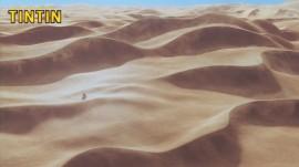 Papel de parede Tintin no Meio do Deserto