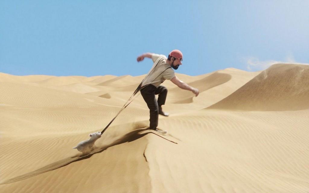 Papel de parede Tintin: Capitão Haddock no Deserto para download gratuito. Use no computador pc, mac, macbook, celular, smartphone, iPhone, onde quiser!