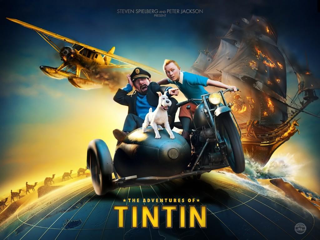 Papel de parede Tintin: Cartaz do Filme para download gratuito. Use no computador pc, mac, macbook, celular, smartphone, iPhone, onde quiser!