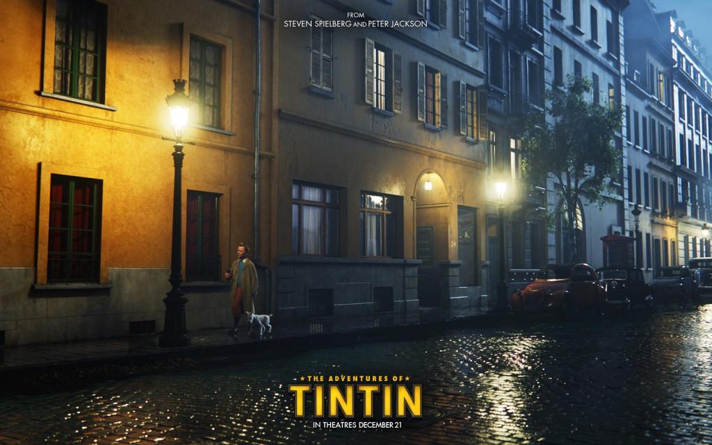 Papel de parede Tintin: Na rua à noite para download gratuito. Use no computador pc, mac, macbook, celular, smartphone, iPhone, onde quiser!