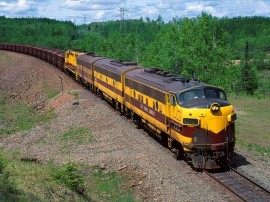 Papel de parede Trem – Amarelo