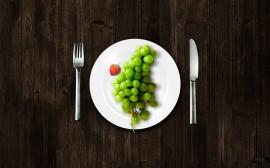 Papel de parede Uva no Almoço