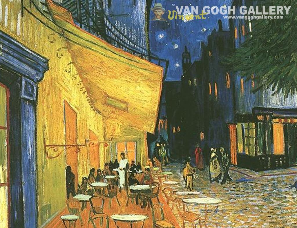 Papel de parede Van Gogh – Terraço do Café na Praça do Fórum para download gratuito. Use no computador pc, mac, macbook, celular, smartphone, iPhone, onde quiser!
