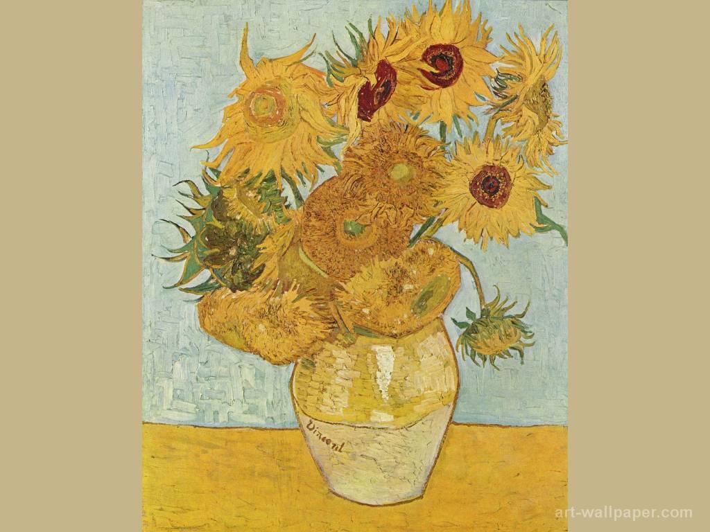 Papel de parede Van Gogh – Doze Girassóis Numa Jarra para download gratuito. Use no computador pc, mac, macbook, celular, smartphone, iPhone, onde quiser!