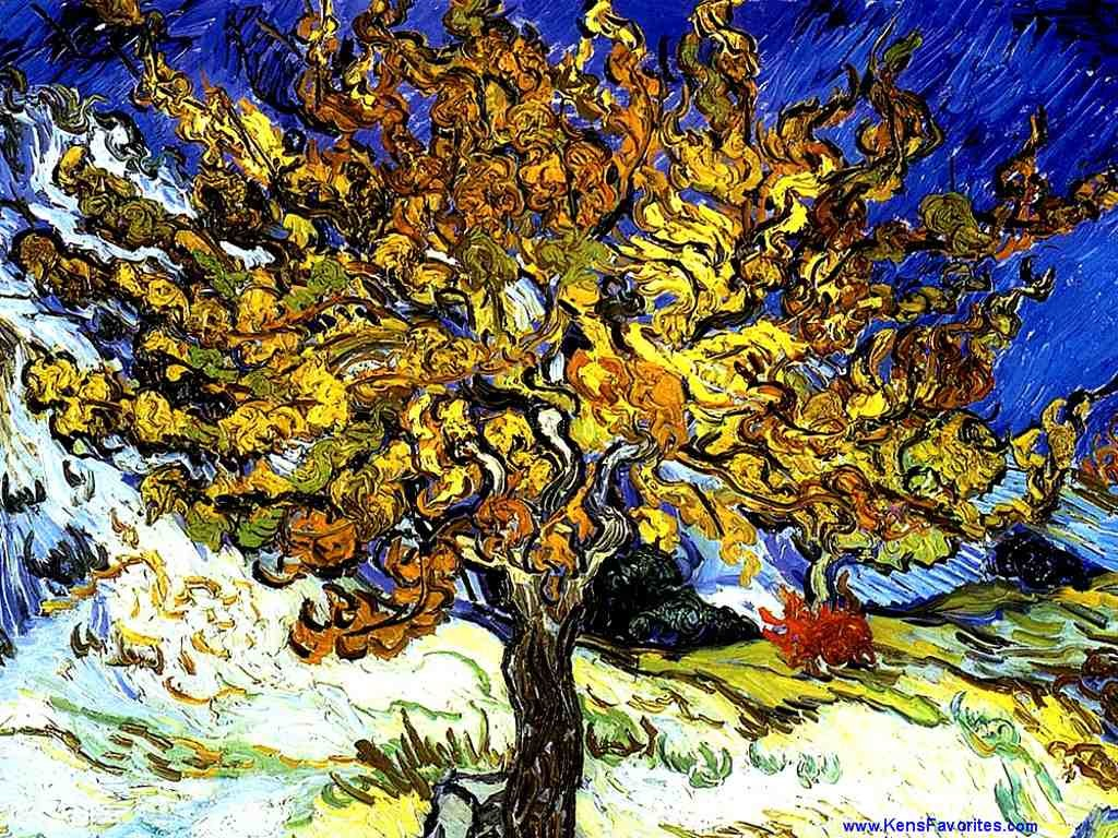 Papel de parede Van Gogh – Amoreira para download gratuito. Use no computador pc, mac, macbook, celular, smartphone, iPhone, onde quiser!
