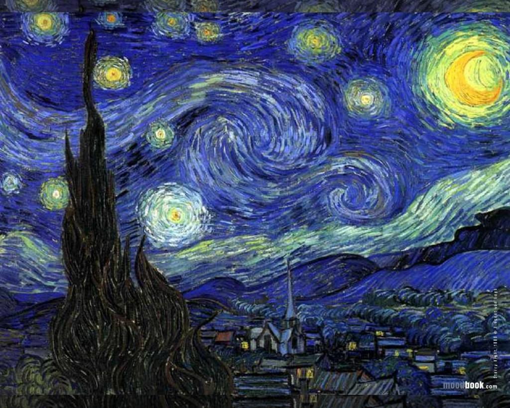 Papel de parede Van Gogh – Noite Estrelada para download gratuito. Use no computador pc, mac, macbook, celular, smartphone, iPhone, onde quiser!