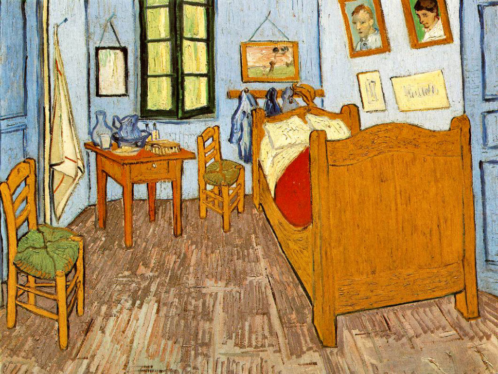 Papel de parede Van Gogh – Quarto em Arles para download gratuito. Use no computador pc, mac, macbook, celular, smartphone, iPhone, onde quiser!