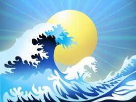 Papel de parede Ondas do Mar