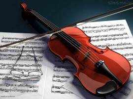 Papel de parede Violino – Música