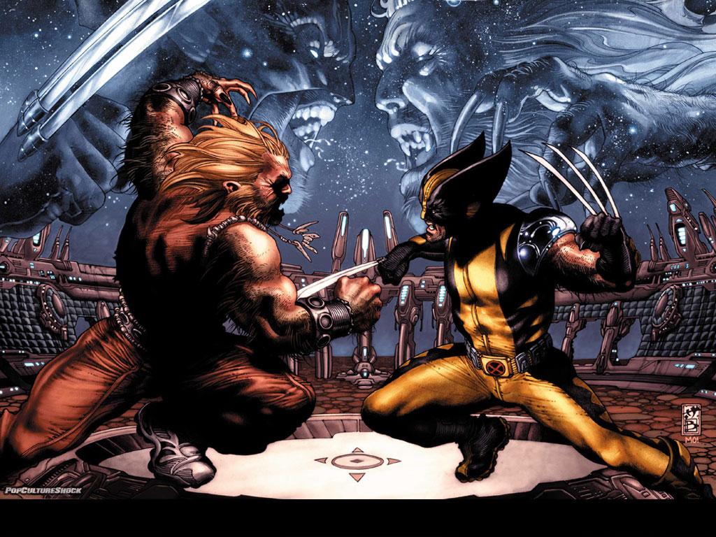 Papel de parede Wolverine – Contra Dentes-de-Sabre para download gratuito. Use no computador pc, mac, macbook, celular, smartphone, iPhone, onde quiser!