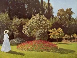 Papel de parede Monet – Mulher no Jardim